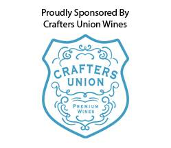 Proudly sponsored by Crafters Union Wines
