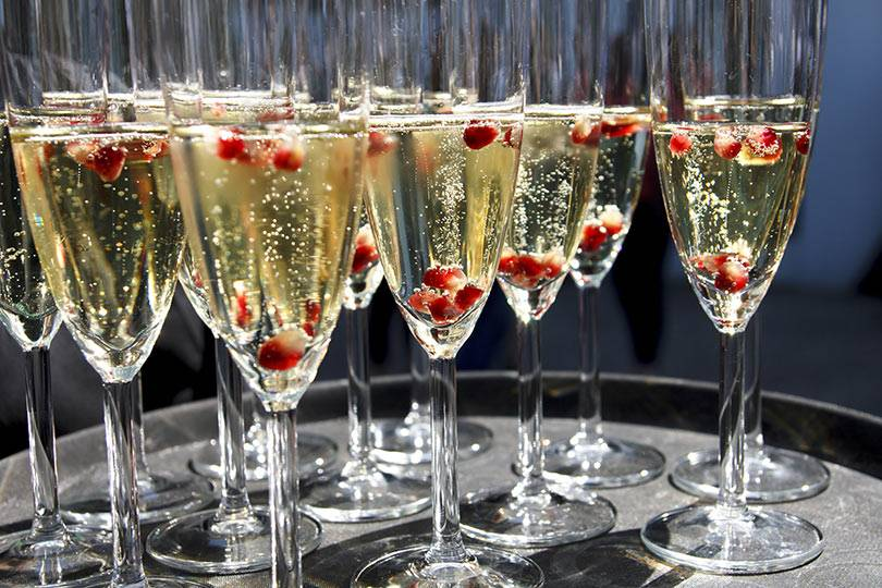Pomegranate Champagne will be served at Honey Creek Resort's Wellness Weekend