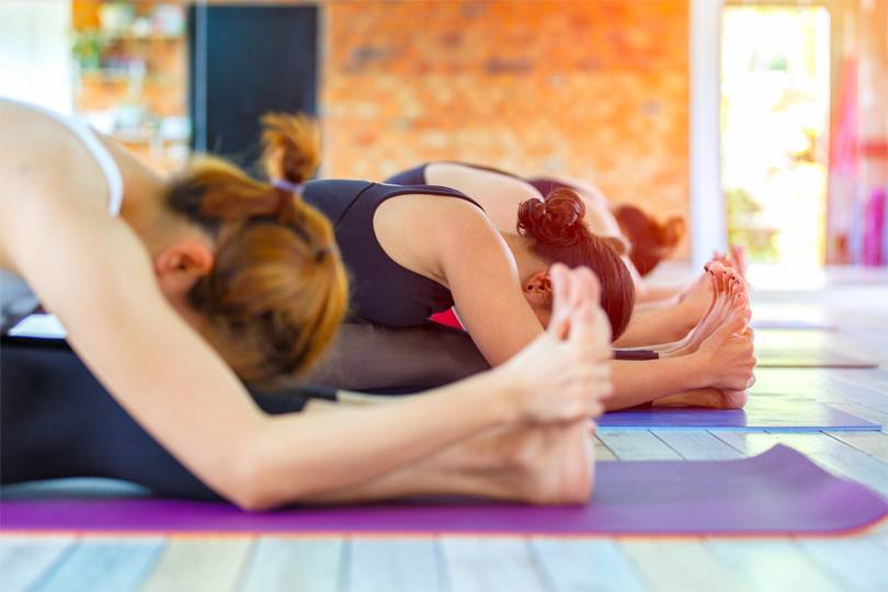 Enjoy doing yoga at Wellness Weekend at Honey Creek Resort