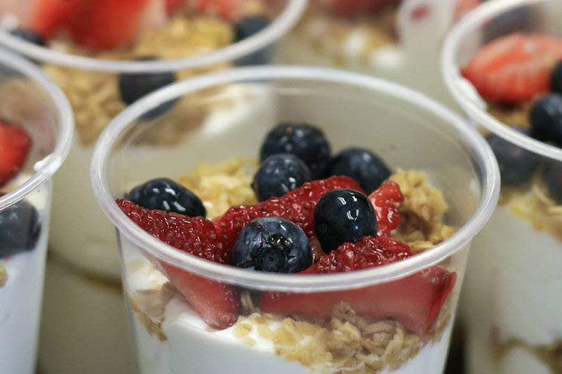 Yogurt parfait will be served at Honey Creek Resort's Wellness Weekend