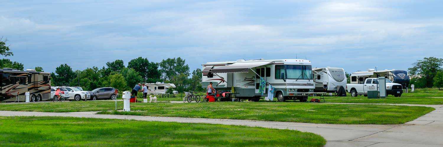 The RV Park at Honey Creek provides RV campsites with easy access to the lake & resort amenities