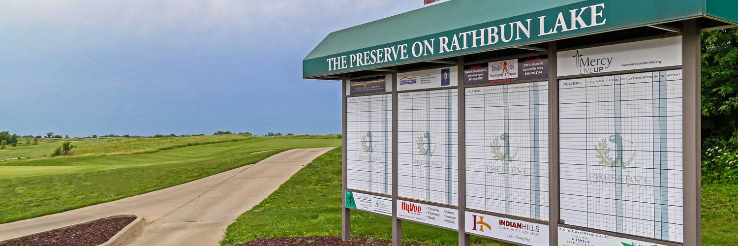 Leaderboard for The Preserve on Rathbun Lake in Iowa