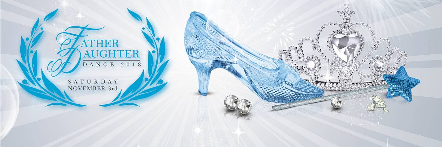 A blue glass slipper is shown with a princess tiara and wand with a blue star at the top