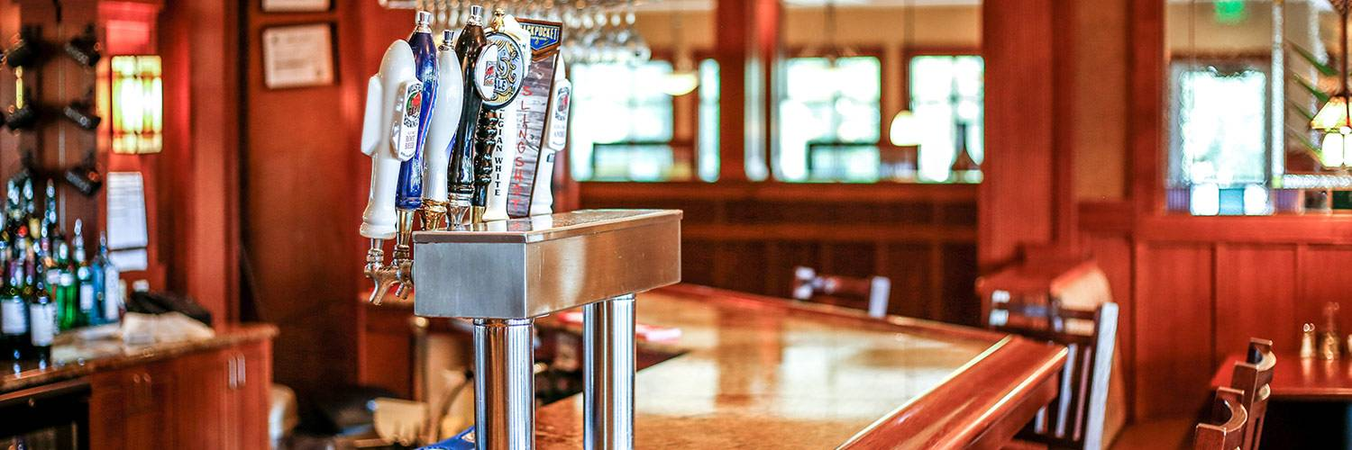 Beers on tap at the Honey Creek Resort restaurant bar