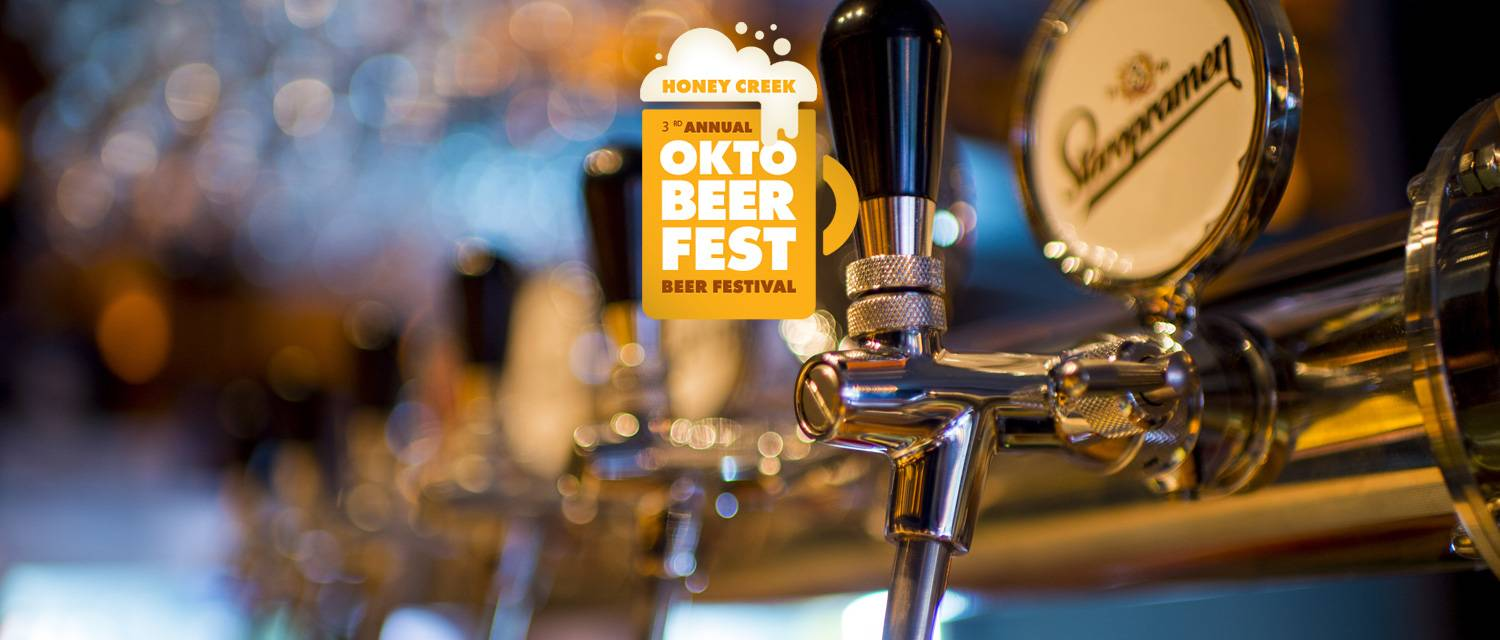 3rd Annual Oktobeerfest logo with beer taps in the background