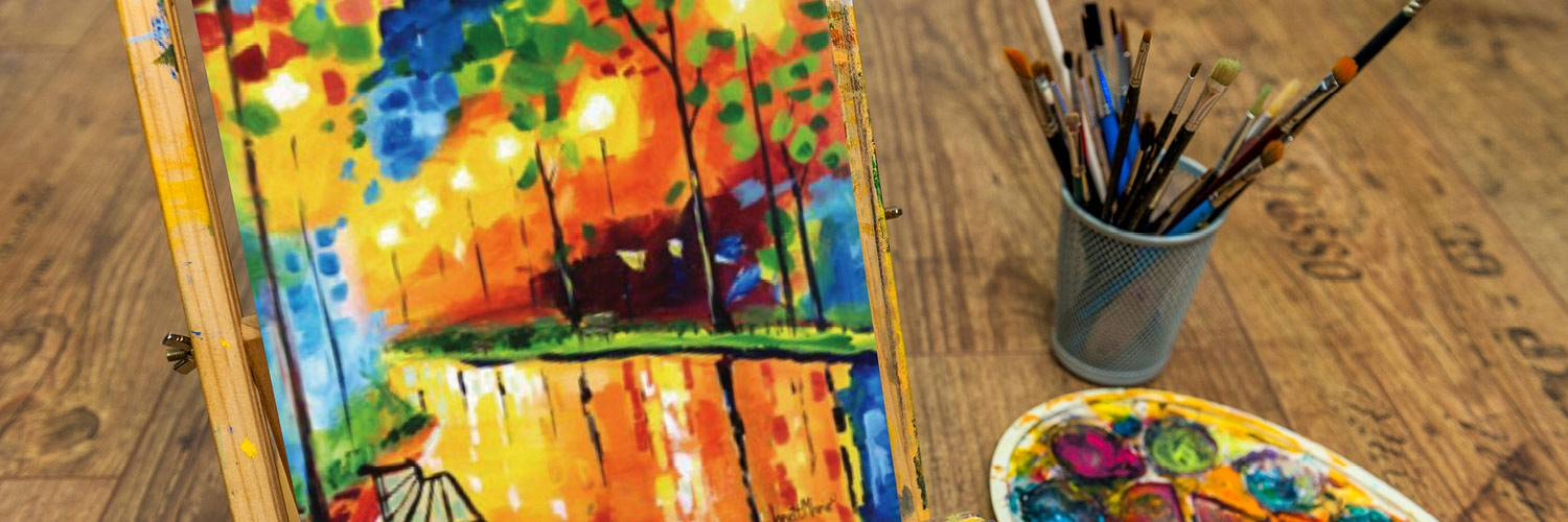 Enjoy a night of painting and sipping wine at Honey Creek Resort