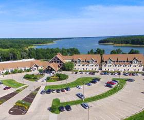 Honey Creek Resort is located at the edge of Rathbun Lake