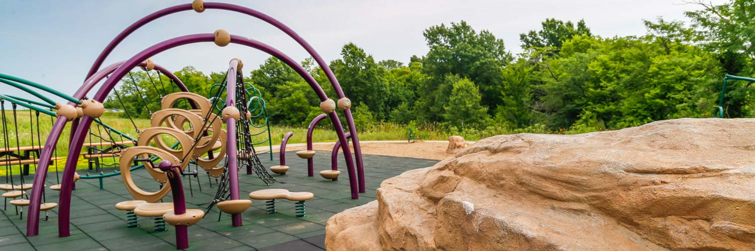 A playground is one of the outdoor recreation activities at Honey Creek Resort