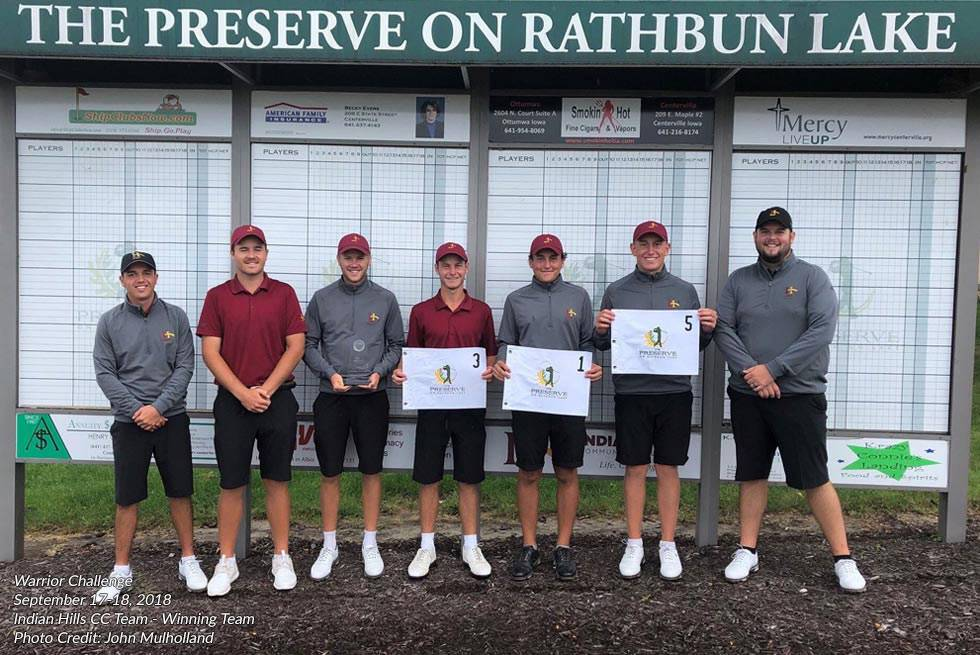 Warrior Challenge 2018 winning team at The Preserve on Rathbun Lake