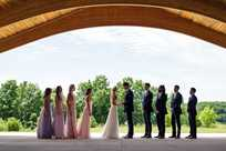 Wedding party in the outdoor venue at Honey Creek Resort