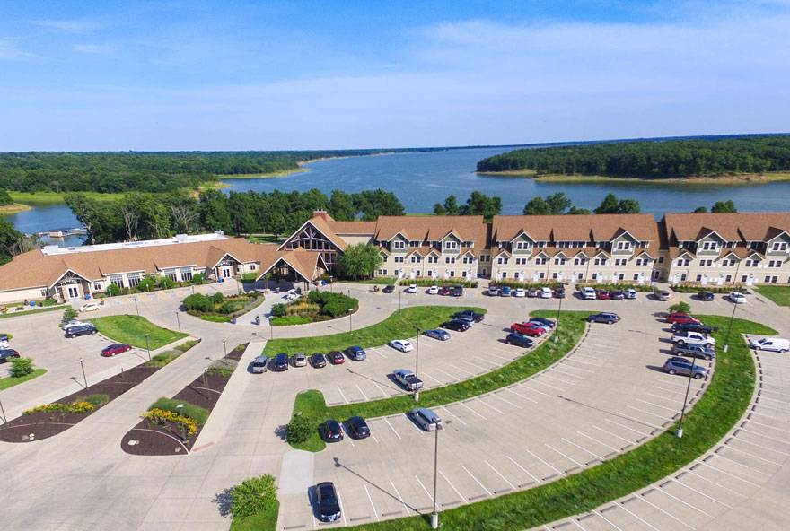 Honey Creek Resort near Rathbun Lake offers lodging near The Preserve on Rathbun Lake golf course
