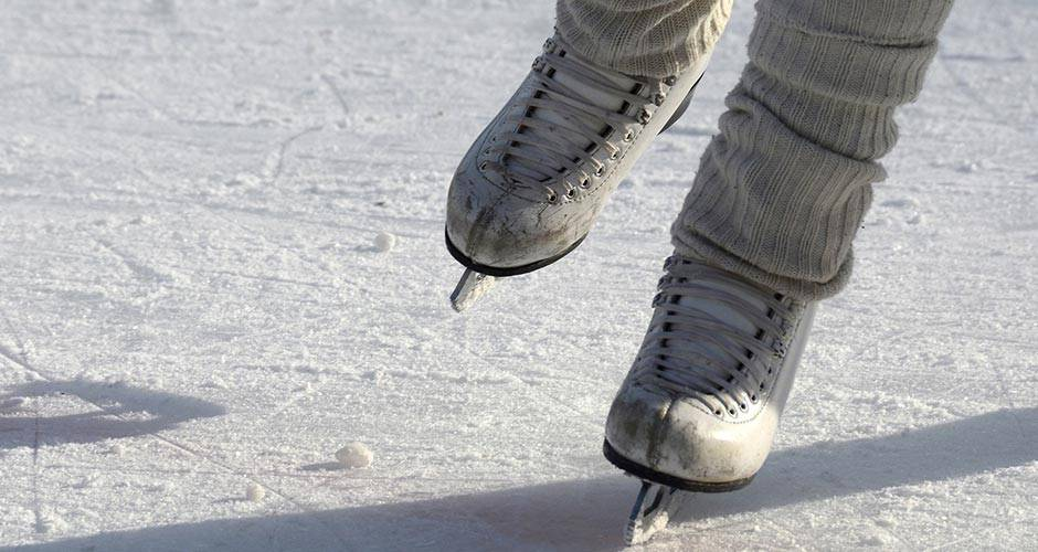 Ice skating is available, weather depending, at Honey Creek Resort in Iowa